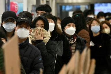While the World Health Organization said the outbreak had 'peaked' in China, it warned about a possible pandemic