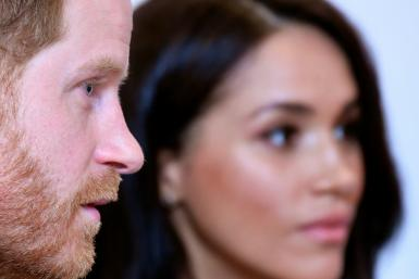 Britain's Prince Harry returned to Britain to fulfill the first of a final round of his duties as a royal before he and his wife Meghan step back from their role