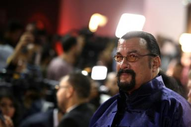 Actor Steven Seagal, shown in 2019 in Egypt, has been suspended from investment promotions over charges he hawked a cryptocurrency venture without disclosing compensation