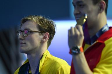 Australia's Mack Horton (L) has said his feud with Sun Yang was never personal, and only about keeping swimming a clean sport