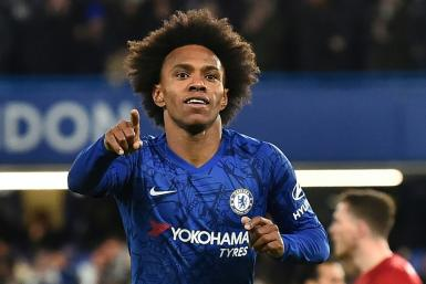 Willian opened the scoring in Chelsea's 2-0 win FA Cup win over Liverpool