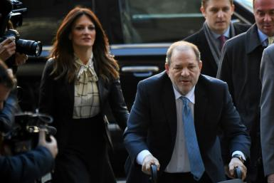 Harvey Weinstein was brought from the notorious Rikers Island jail into the Manhattan criminal court in a wheelchair