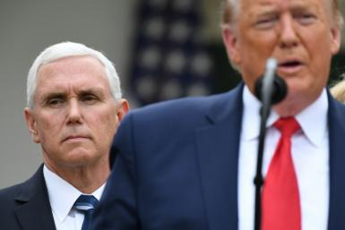 Vice President Mike Pence is pictured with President Donald Trump