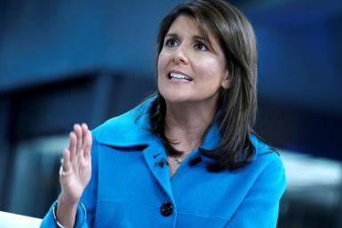 Nikki Haley resigned from Boeing's board of directors, saying she was philosophically opposed to company efforts to garner a government bailout