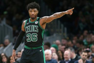 Boston Celtics Marcus Smart urged young people to take the health threat seriously
