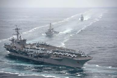 The USS Theodore Roosevelt aircraft carrier has more than 5,000 personnel on board