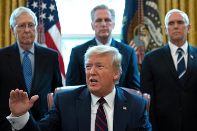 US President Donald Trump signed a $2 trillion rescue package into law to provide economic relief amid the coronavirus outbreak