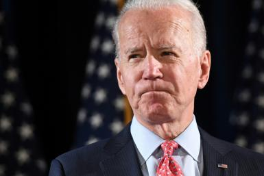The US administration suggested that Joe Biden, the former vice president and likely challenger to Trump in November's election, call the president; pictured is a file photo taken on March 12, 2020