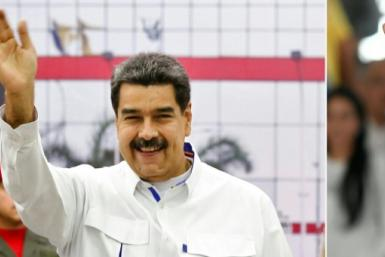Washington suggested that both leftist Venezuean president Nicolas Maduro (L) and his rival Juan Guaido -- previously backed by the US -- step aside in favour of a transitional administration made up of members of both their parties