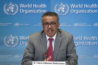 World Health Organization director-general Tedros Adhanom Ghebreyesus (pictured March 2020) said getting the COVID-19 virus under control first was necessary to revive economic activity