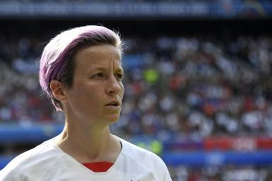 Life is sweat! Megan Rapinoe has no problem with a high-five
