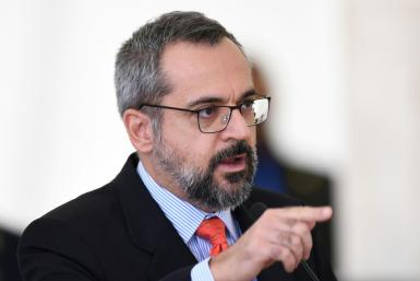 Brazilian Education Minister Abraham Weintraub mocked the Chinese accent in a tweet blaming the country for the coronavirus pandemic