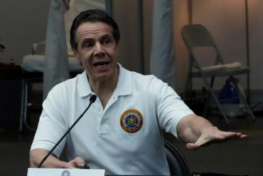 "New York Governor Andrew Cuomo, pictured in March 2020, cautioned that now was not the time to be ""lax"""