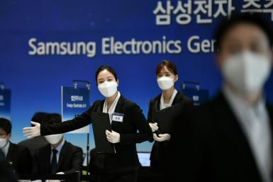 The pandemic is wreaking havoc across the global economy and Samsung had operations suspended at 11 overseas assembly lines as of Tuesday