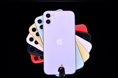 Apple CEO Tim Cook normally hosts splashy media events like this one in November 2019 to introduce new products, but the iPhone SE was introduced with a press release due to the coronavirus lockdown