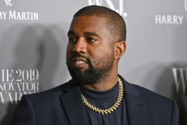 Kanye West, seen in New York in November 2019, is worth some $1.3 billion according to Forbes