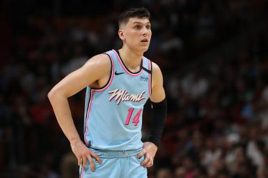 Tyler Herro #14 of the Miami Heat