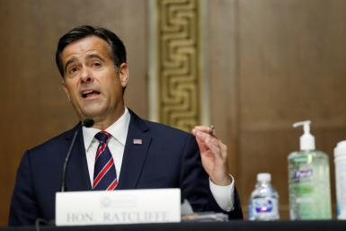 Republican Representative John Ratcliffe testifies before a Senate Intelligence Committee reviewing his nomination as US Director of National Intelligence