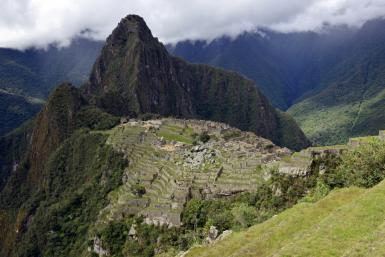 Machu Picchu, the ancient Inca city high in Peru's southeastern Andes