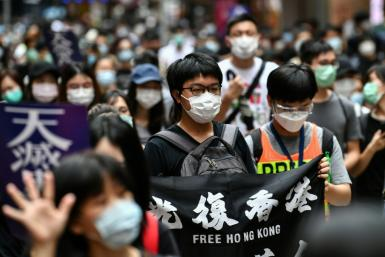Hundreds of pro-democracy protesters gathered in Hong Kong after China proposed a controversial new security law