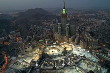 Saudi Arabia's holy city of Mecca was empty of worshippers for the last day of Ramadan