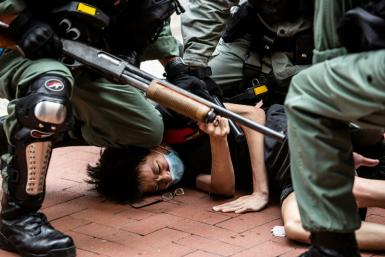 China's state media has seized on images of violence by Hong Kong protesters to justify a new security law