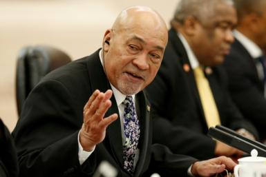 Suriname's President Desi Bouterse remains confident his party will hold onto power in upcoming parliamentary elections