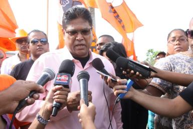 Chan Santokhi, the main oppostion candidate vying for the presidency in Suriname, has predicted victory
