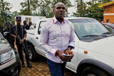 Genocide: Ladislas Ntaganzwa, pictured arriving in court in Kigali on April 4 2016