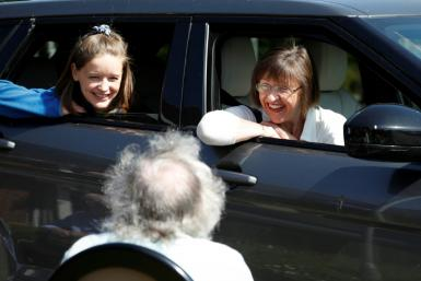 Drive-through family visits at a British care home are protecting its vulnerable residents from coronavirus