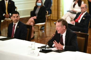 US Trade Representative Robert Lighthizer (right) said the probe into digital services taxes stems from concerns that American tech firms are being singled out