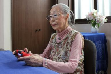 Hamako Mori, 90, known as 'Gamer Grandma', spends hours a day battling monsters and going on missions in the virtual worlds of her favourite games