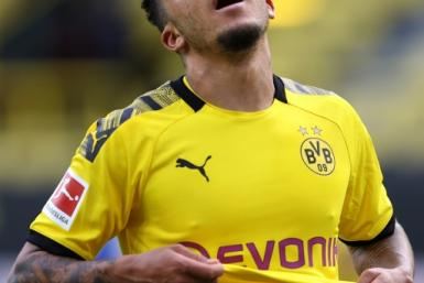 Jadon Sancho has been heavily criticised for having a haircut without any protective equipment