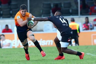 Jaguares, playing here against the Sharks in Durban, had a mixed start to their 2020 season, winning three and losing as many of their opening seven matches