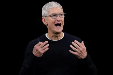 Apple CEO Tim Cook, seen here in September 2019, announced a $100 million initiative by the company to promote racial equity and justice