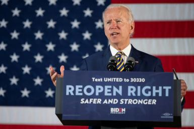 Democratic presidential candidate Joe Biden is leading President Donald Trump in the polls
