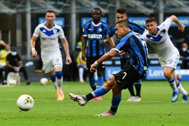 Alexis Sanchez scored one goal and set up two more for Inter Milan against Brescia