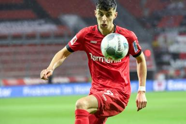 Germany midfielder Kai Havertz sat out Leverkusen's 2-1 win over Bayern Munich last November due to injury