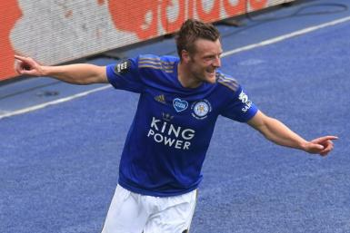 Leicester's Jamie Vardy scored his 100th and 101st Premier League goals on Saturday