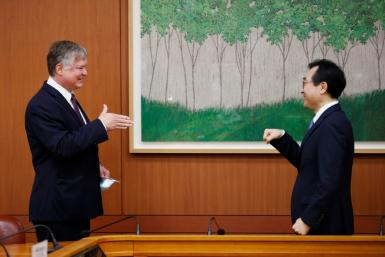 US Deputy Secretary of State Stephen Biegun met his South Korean counterpart Lee Do-hoon in Seoul
