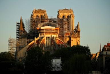 Notre-Dame was partly destroyed by fire in April last year