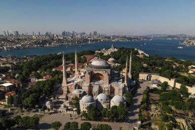 The sixth-century edifice -- whose stunning architecture is a magnet for tourists worldwide -- has been a museum since 1935, open to believers of all faiths