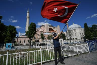 Turks began celebrating after a top Turkish court revoked Hagia Sophia's status as a museum, clearing the way for it to be turned back into a mosque