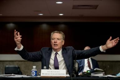US Trade Representative Robert Lighthizer said Washington 'won't tolerate' taxes in France or elsewhere that target US firms