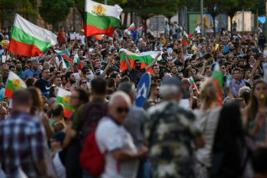 Protesters out on the streets of Sofia Saturday