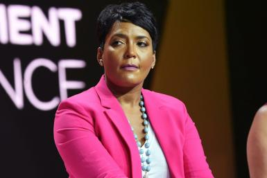 Atlanta mayor Keisha Lance Bottoms, pictured in 2018, has framed the disagreement as a public health policy dispute, while state authorities have said they are focused on the technicalities of their parallel mandates