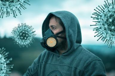man wearing mask during coronavirus pandemic