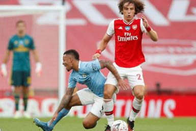 Arsenal defender David Luiz shone against Manchester City