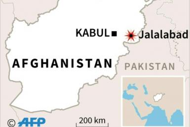 Map of Afghanistan locating Jalalabad, where armed men stormed a prison in eastern Afghanistan on Sunday