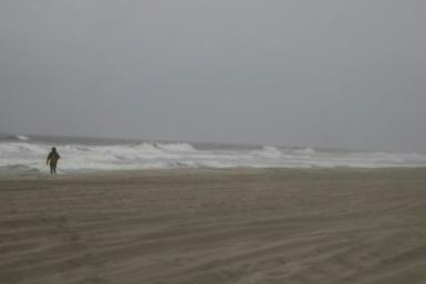 Rough seas and winds develop near North Myrtle Beach in South Carolina as Hurricane Isaias approaches US eastern seaboard. The storm is expected to bring life-threatening storm surges to North and South Carolina.